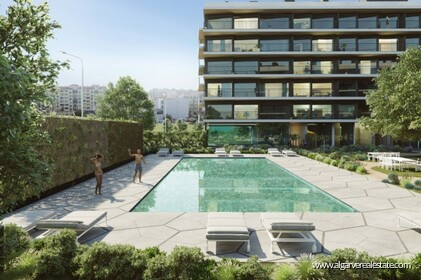 New apartments in gated community with pool in Faro