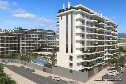 2 bedroom apartments located in a private condominium with swimming pool in Faro