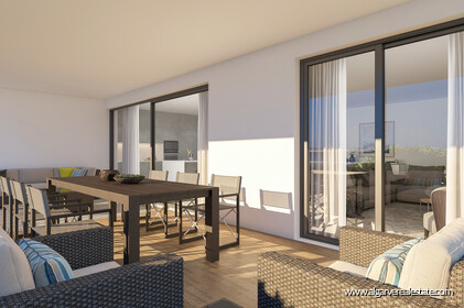 Penthouse T4 Duplex located in gated condominium with swimming pool in Faro - 3