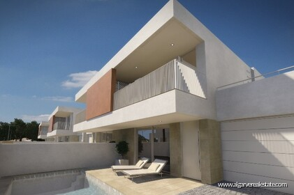 Semi-detached contemporary villas with a pool