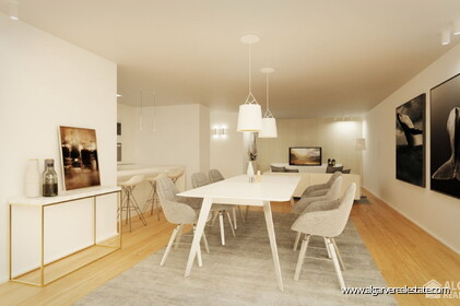 Contemporary style apartments under construction with 2 rooms