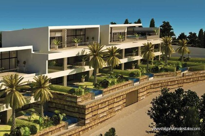 Luxury 3 bedroom apartment with sea view in Albufeira - 0