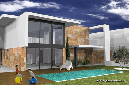 Modern 4 bedroom villa under construction in Albufeira - 1