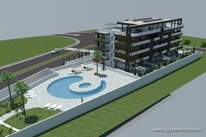 Two-room apartments with pool at 400 m from the beach in Quarteira - 9