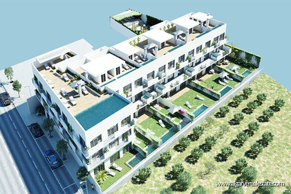 Apartments for sale two bedrooms in the new San Pedro de Tavira