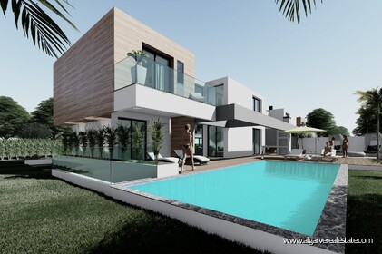 Villa under construction V3 + 1 with private pool, located in Vilamoura