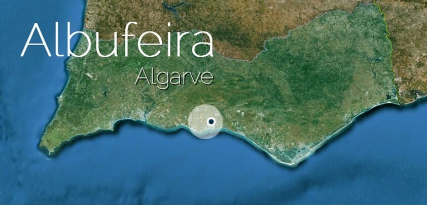 map of Albufeira