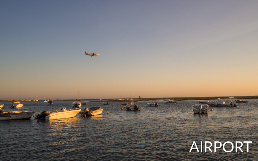 RIA Formosa surrounding the international airport of Faro