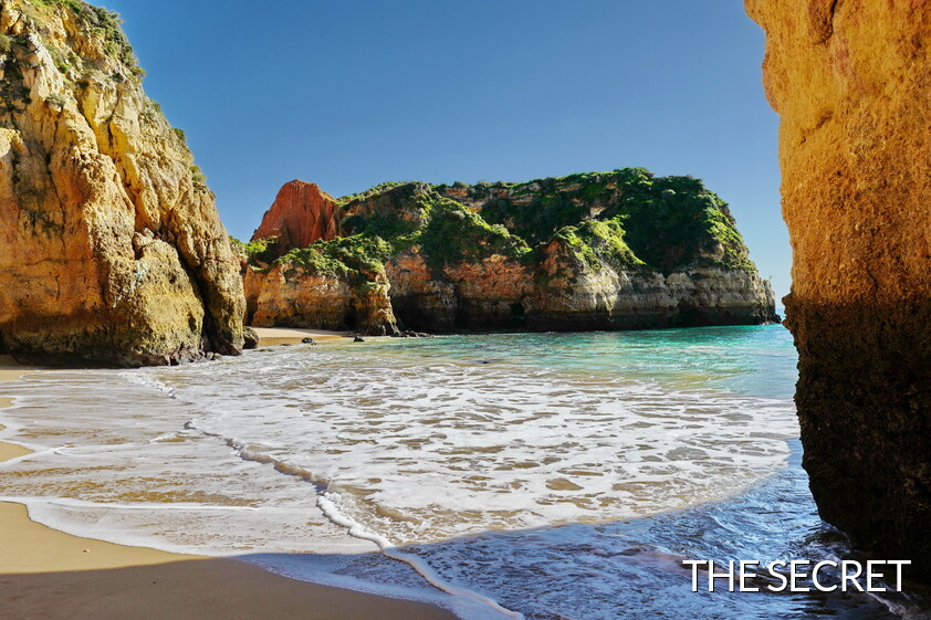 One secret beach in Algarve