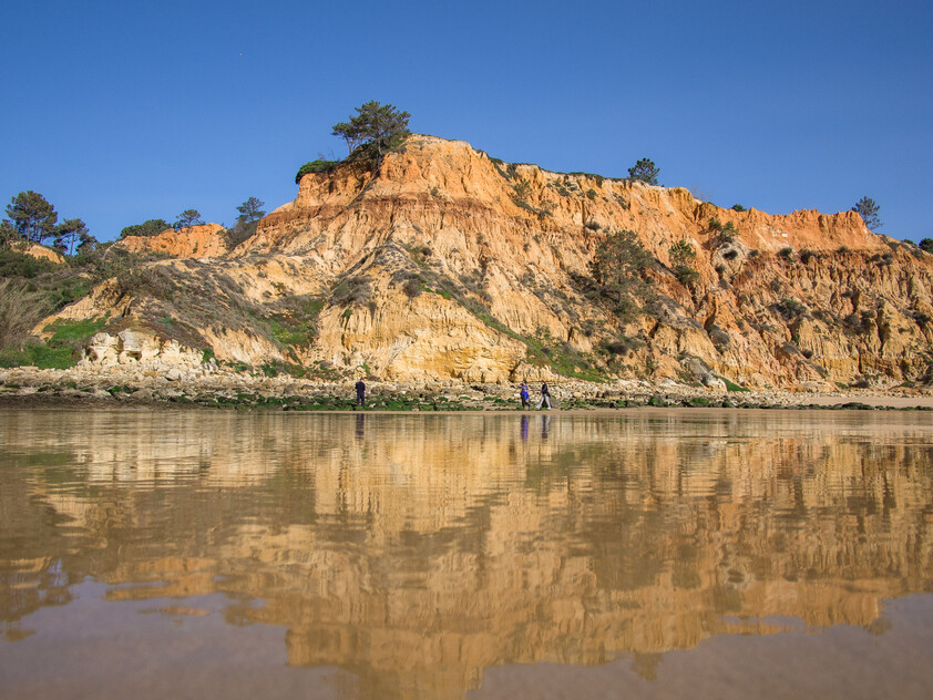 cliffs of the beach of Barranco das Belharucas