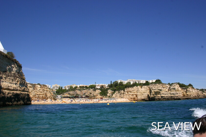 Nossa  Senhora Rocha beach from the sea