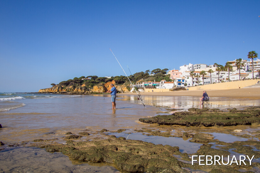 The Algarve beaches have people enjoying the beach activities all year round