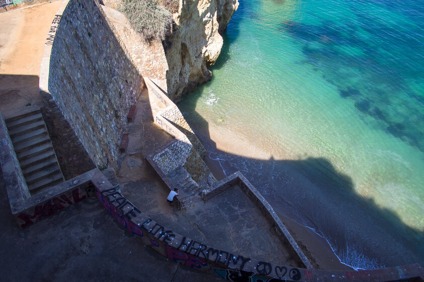 Pinhão beach access stairs