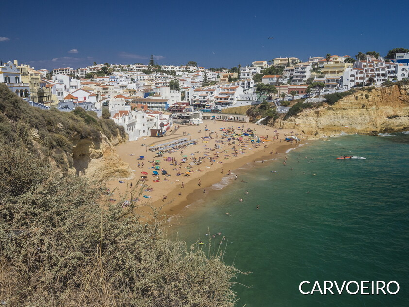 View of the village of Carvoeiro