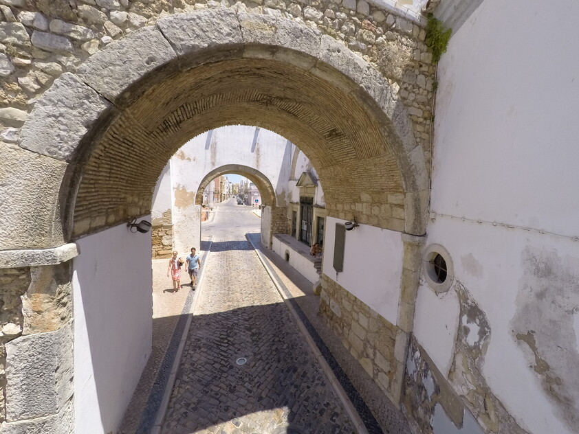 Arches of the old town of Faro