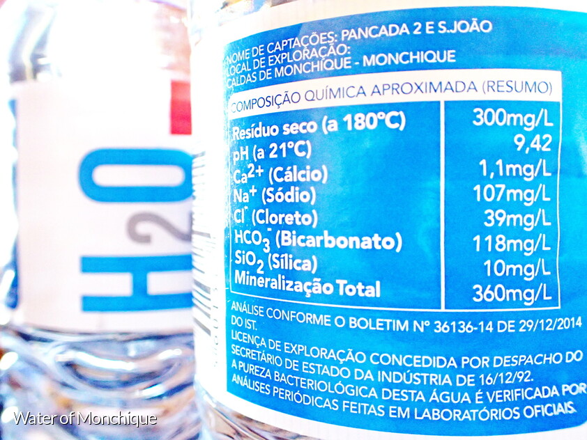 Monchique water with a PH of greater than 9