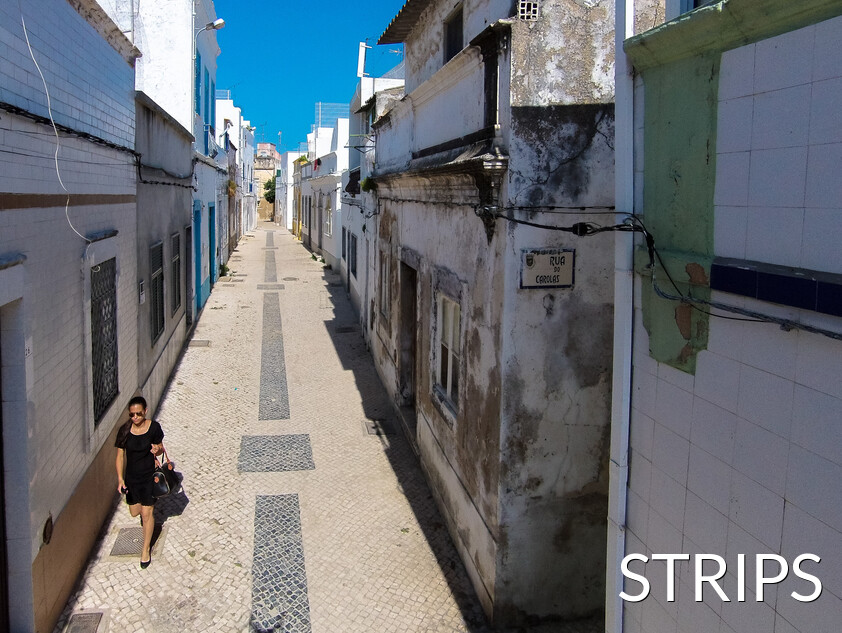 Typical streets of olhão