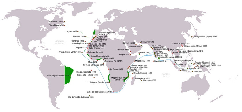 Map of the Portuguese discoveries