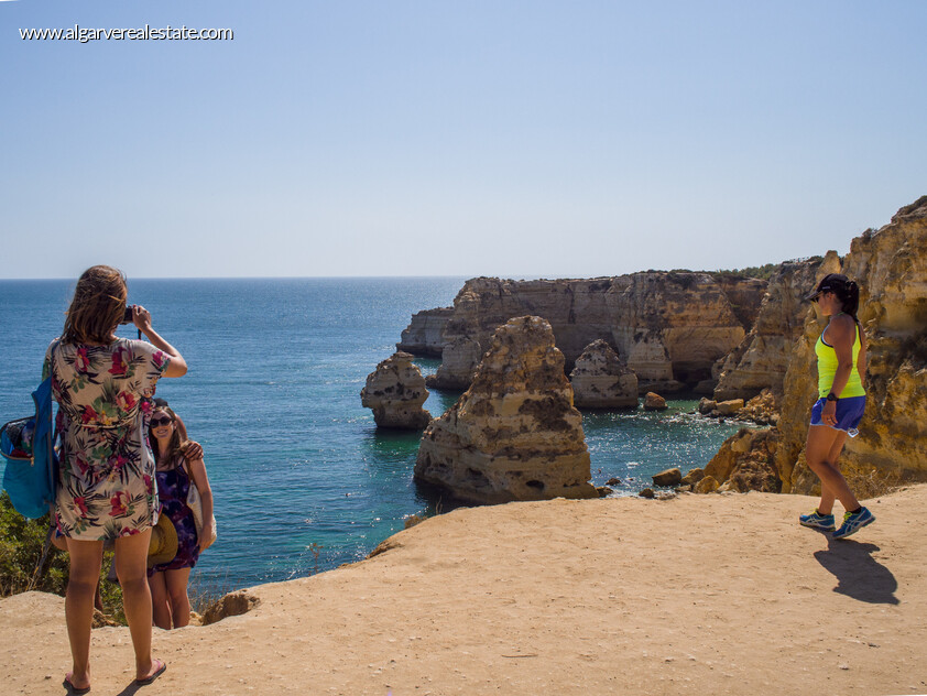 Algarve beach with beautiful scenery