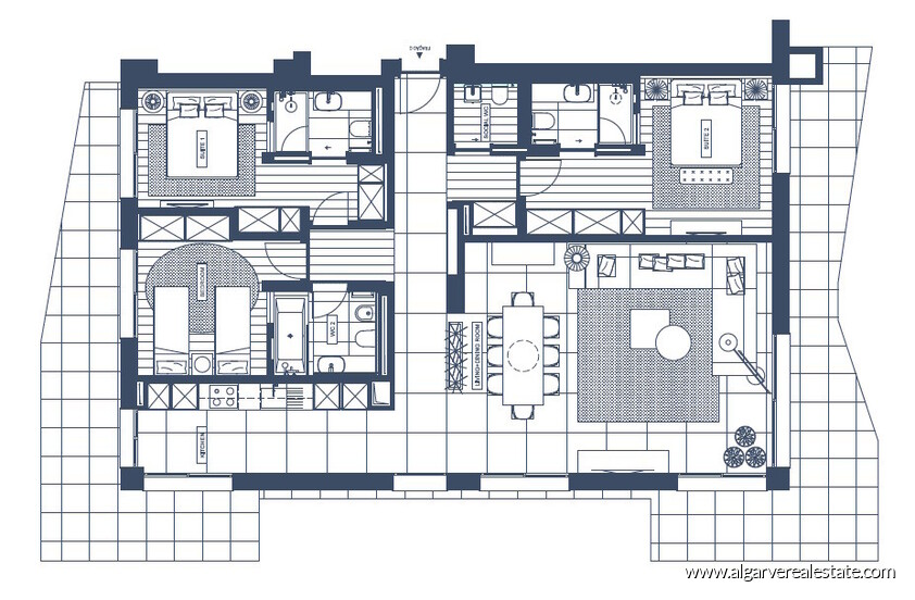 apartament floor plan 1 the5