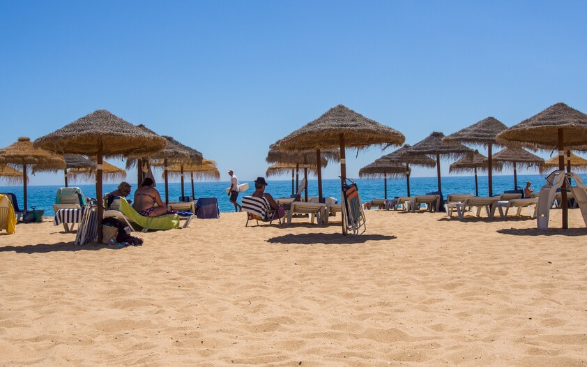 quarteira beach in the summer