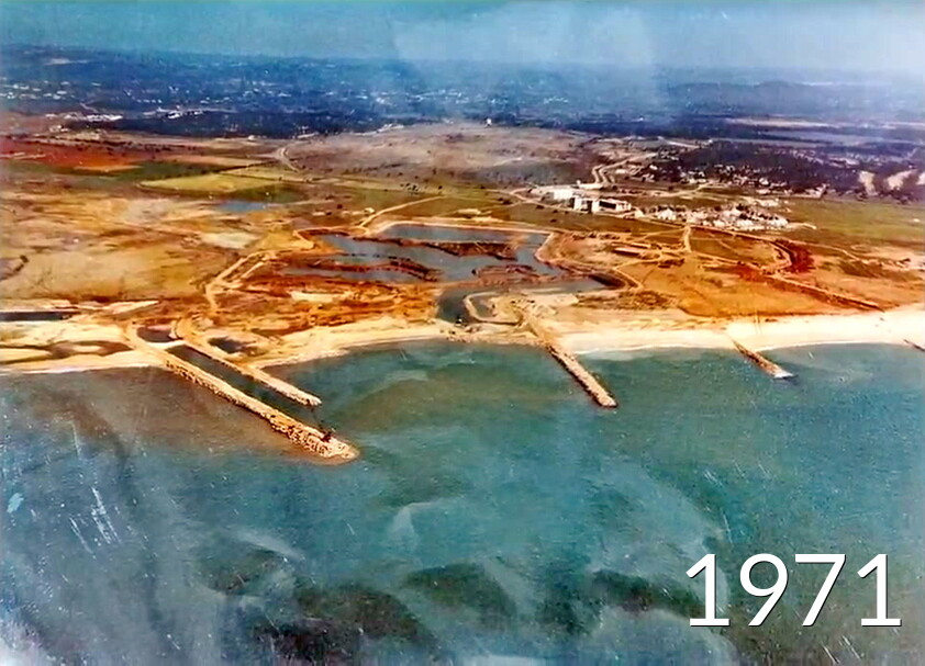 Excavation of the Vilamoura Marina view from the air