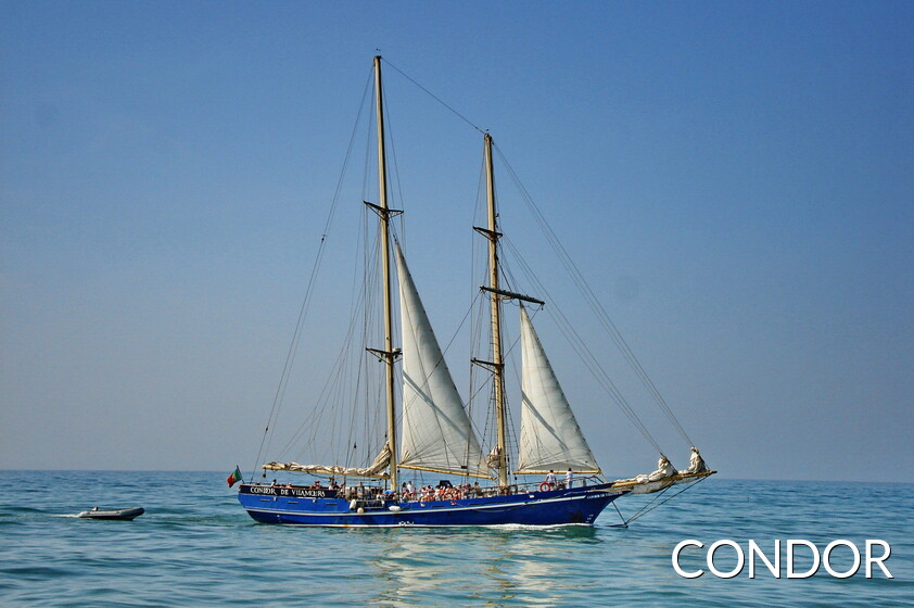 Condor de Vilamoura, sailing ship best known for the tours of the coastline of the Algarve