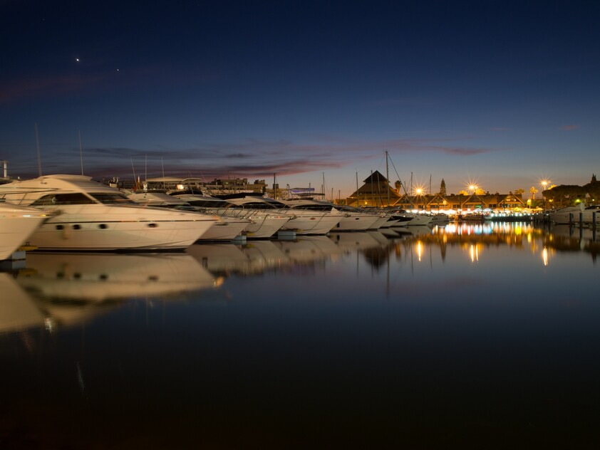 Vilamoura Marina at night