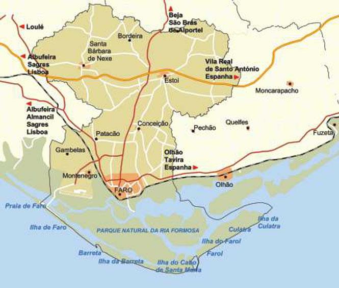 Faro Algarve Karta.Plats Karta Over Faro